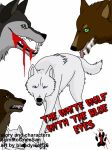 the white wolf with the blue eyes volume 1 cover by bloodywolf26