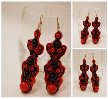 my jewellery 09--red and black by n-m-rotten