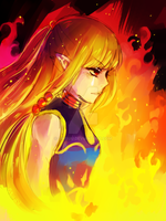LoZ -- zelda's resolve by onisuu