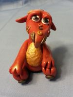 Red OOAK Polymer Clay Dragon by Orang3Marmalade