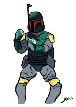 Boba Fett From  Robot Chicken by Insanity540
