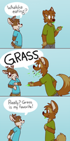 yum grass is tasty by ThesePantsDontFit