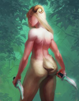 [YCH]: Satyr/Orc by HumelenVaen