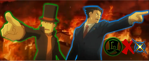 Layton vs Wright by Metaldeoxys