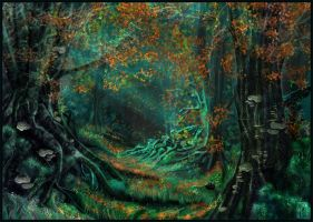 Dark-Beech Forest by JanaW