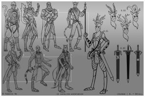 The knight adventurer (concepts)... by Nero-DevilHunter
