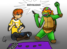 TMNT-Booyakasha Easter by FlashyFashionFraud