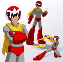 Cartoon Proto Man by Design-Escape