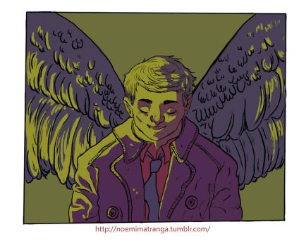 Angel of Lord - Castiel by notperfectisgoood