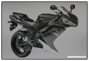 YAMAHA R1 Drawing WIP(3) by sharppower