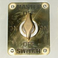 Master On Off Brass Switch by FantasyStock