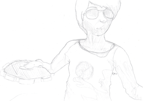 I am the Strider Sketch. It's me. by Schakerin