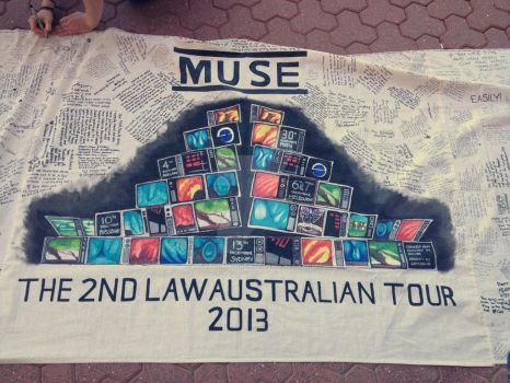 Muse Concert 13/12/13 - Banner #2 by Megalomaniacaly