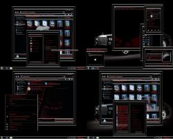 windows 7 theme black glass 2 by tono3022