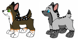 Lacey x Fitch, Lacey x Aero Pups for brambleclaw33 by Twine-Adopts