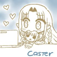 Fate/Stay in the Laptop - Caster by Flourite-Applewhite