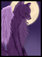 The Violet Winged Wolf by VioletWingedWolf