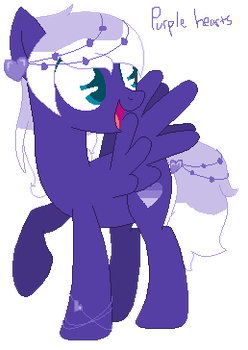 Purple Hearts - My Oc (Main) by S-CoreS