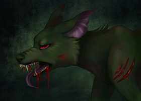 Zombie Pup Collab by Saber-Panda