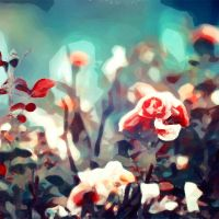 Budding Rose by when-the-watercolor