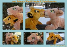 2005 Disney World Simba And Nala Beanies by DoloAndElectrik
