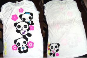 Cute Panda Kawaii T-shirt by Brendaneko