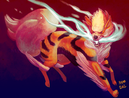 Shiny Arcanine by AxMongrel