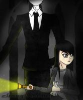 Slenderman and Angel (Fearny) by chang05hana