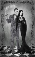 Gomez and Morticia by ArtCrawl