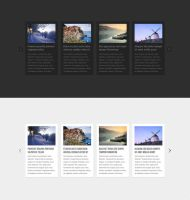 Horizontal News Carousel PSD by elemis