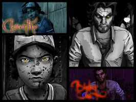 Clementine and Bigby by RandomBlue4744