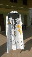 Portal Coat, Back graffiti of GlaDos FINISHED!!! by Italicans