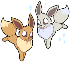 Eevees by pupom