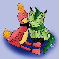 Leafkit and Flamini by Jadesca