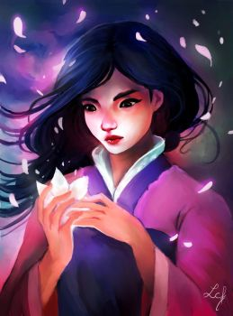 Mulan and her Lotus Flower by Ludmila-Cera-Foce