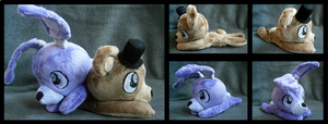 **FOR SALE** FnaF Bonnie and Freddy Beanies by HipsterOwlet