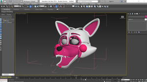 Funtime Foxy model WIP Sister location by Qutiix