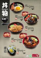 Donburi Menu by philip84