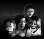 Jennifer Tilly and the Dolls by c0rkydawL