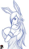 Bunny Rosalina sketch by War-Off-Evil