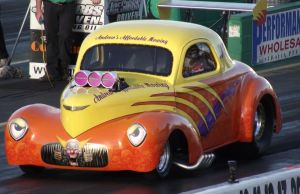 Old Willys Drag car by RedtailFox