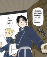 Roy Mustang and Riza Hawkeye by fliptoflop