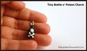 Tiny Bottle o' Poison - Clay Charm by MelodyMaid