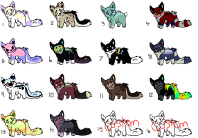 10 Point Kitty Adopts (CLOSED) by Neon-Spots-Adopts
