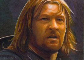Boromir close card by charles-hall