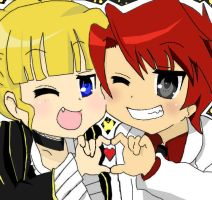 Beato and Battler.Lucky Star. by Neechi