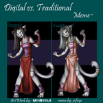 Digital vs. Traditional by MitiRysuje