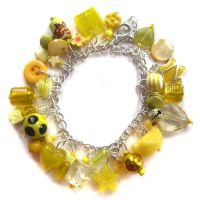 Yellow Charm Bracelet by fairy-cakes