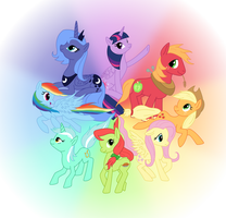 Color Wheel Of Ponies by silberhase