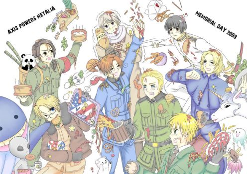 Hetalia: Food Fight by khakipants12